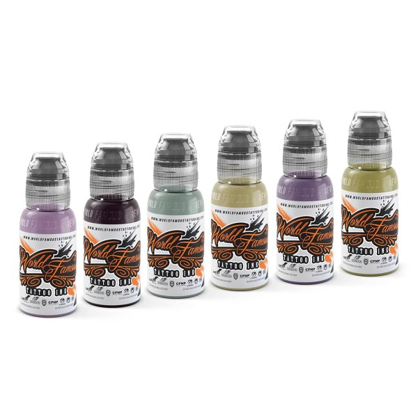 World Famous Tattoo Ink - Maks Kornev's Zombie Color Set 6 x 29,6 ml