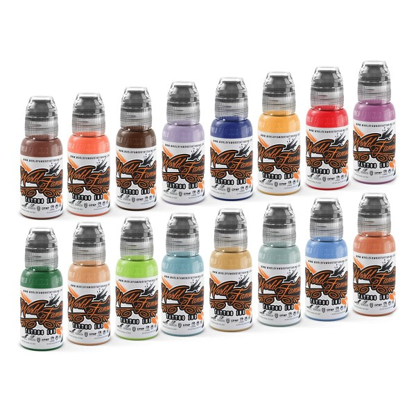 World Famous Tattoo Ink - ILya Fom's Animal Kingdom Set 16 x 29,6 ml