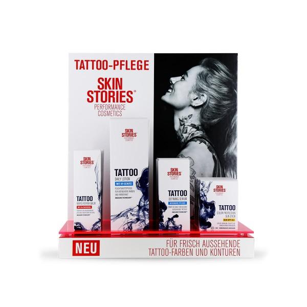 Skin Stories - Verkaufsdisplay - befüllt