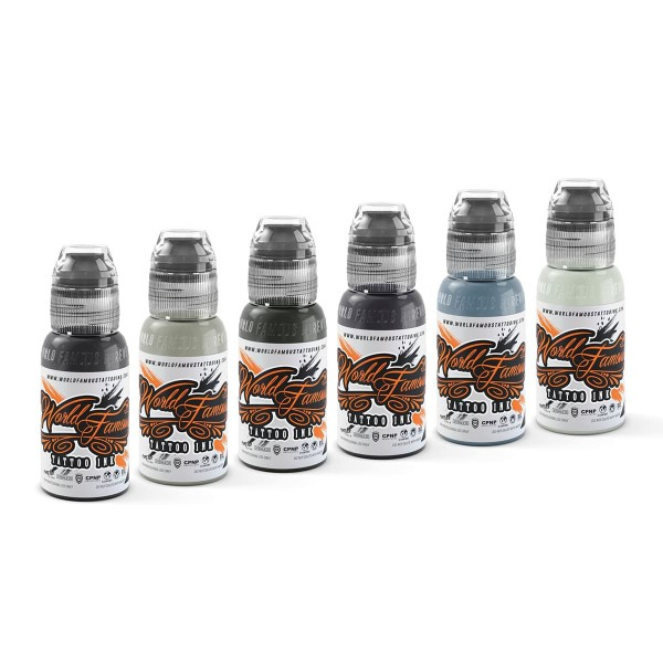 World Famous Ink - Poch Muted Storms Set 6 x 29,6 ml