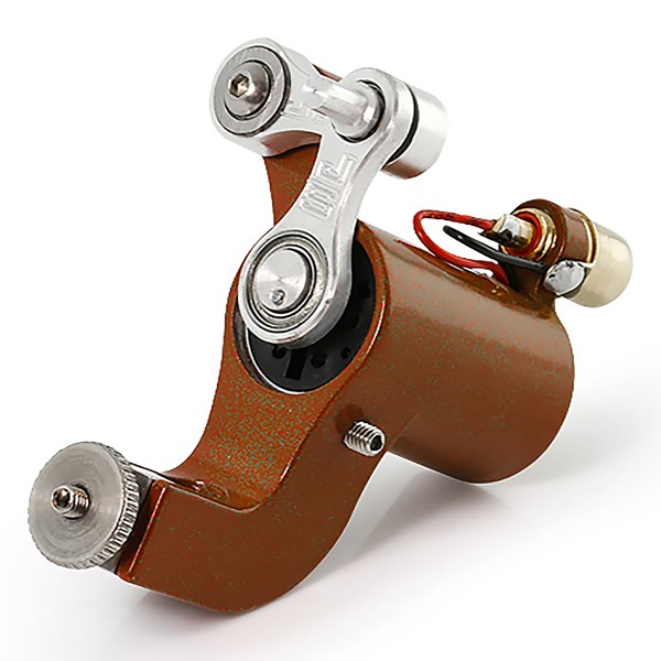 Jack Steel Rotator MK3 Rotary Tattoo Machine - Glossy Brown and Green
