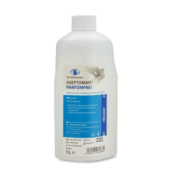Dr. Schumacher - Aseptoman - Parfümfrei - Händedesinfektion