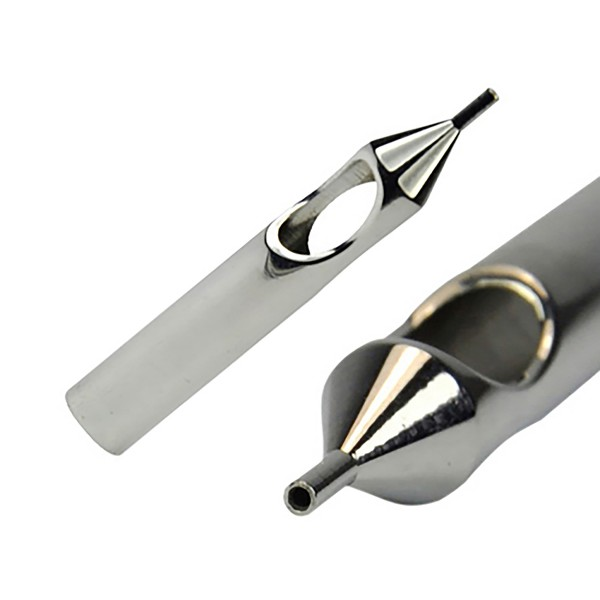 Stainless steel tips round open