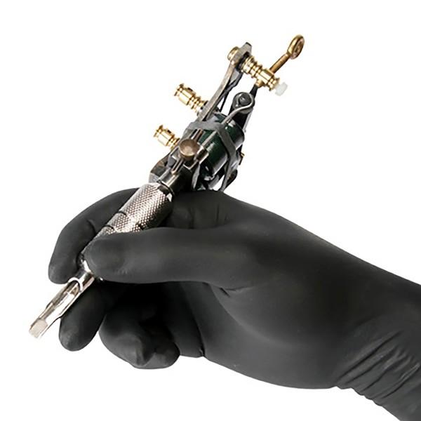 Latex gloves black, 100 stk.