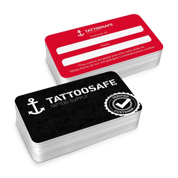 Tattoosafe Member Card