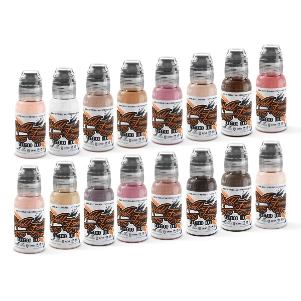 World Famous Tattoo Ink - Pink Ribbon Set 16 x 29,6 ml