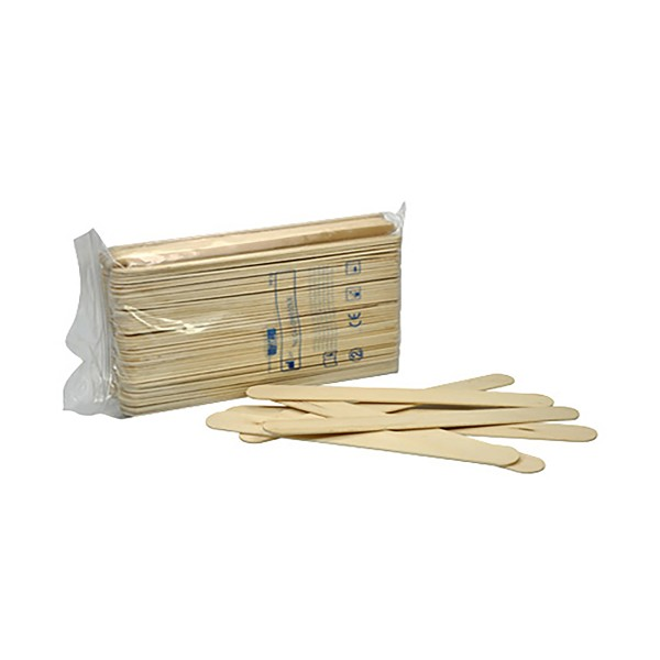 Wooden spatula no-sterile, 100 pieces
