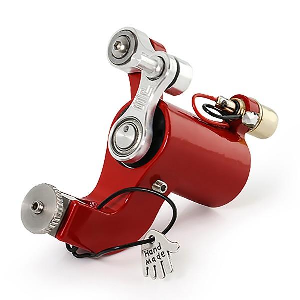 Jack Steel Rotator MK3 - Rotary Tätowiermaschine - Hochglanz Rot