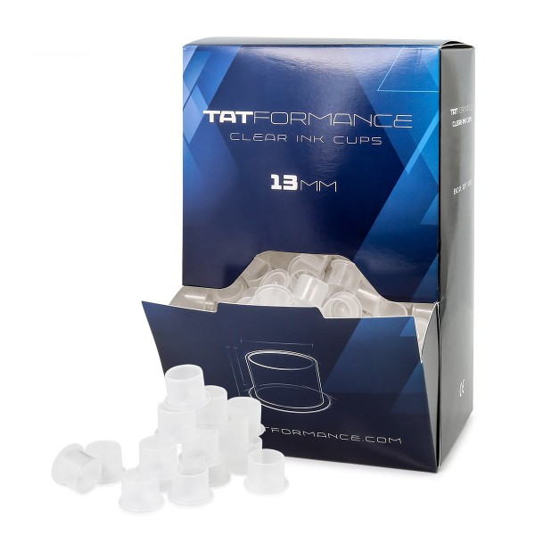 TATFORMANCE - Clear Ink Cups 9 mm / 13 mm /16 mm / 18 mm
